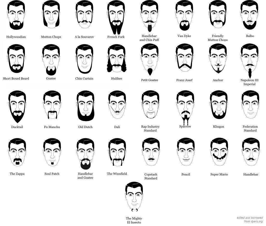 Типы мужских бород стили и дизайн